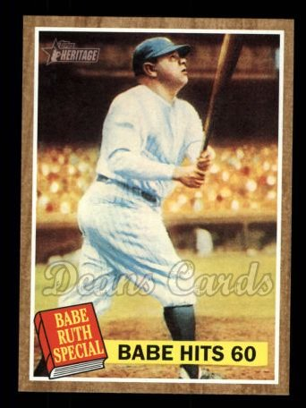 2011 Topps Heritage #139 BR  -  Babe Ruth Babe Hits 60